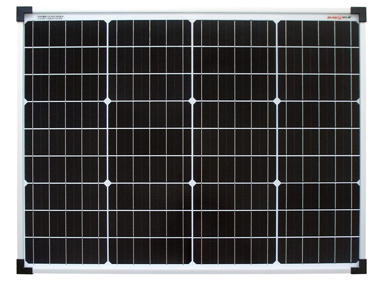 Enjoysolar® Monocrystalline, 50W, 12V, solar panel mono, 50W, ideal for bedding caravan 50W 12V SolarV