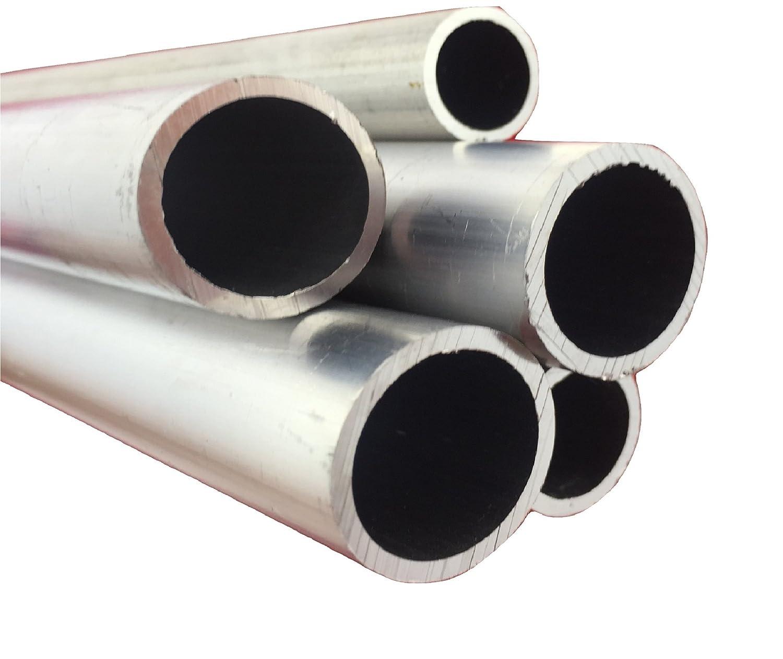 Tubo redondo de aluminio, 50 mm x 3 mm x 2000 mm, 10000