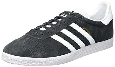 Adidas Gazelle, Baskets Homme, (Dark Gris Heather Solid Grey/White/Gold