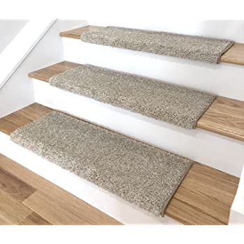 Washable Non Skid Carpet Stair Treads Cobbler Brown 15