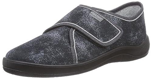 Fischer - Zapatillas de estar por casa para hombre gris Gris - Grau (grauschwarz 662) 41 Am57Ma