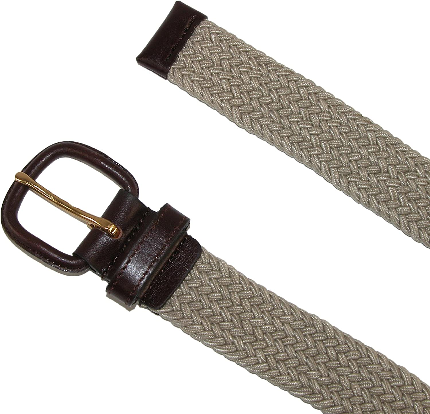 Aquarius Mens Stretch Belt with Covered Buckle Pack of 3 Big /& Tall Available