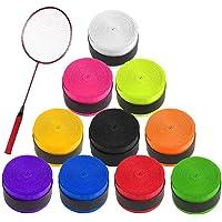 Cinta de Agarre de Tenis 10PCS Raqueta de Tenis Grip Tape para Raquetas de Tenis de Bádminton, Squash y Caña de Pescar