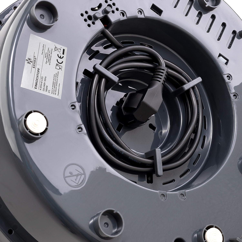 1800 Watt Zeituhr bis 120 Minuten Abschaltautomatik Einkochvollautomat Gl/ühweintopf/ KESSER Einkochautomat 27 Liter Gl/ühweinkocher Gl/ühweinkessel mit Timer Temperatur von 30-100/°C