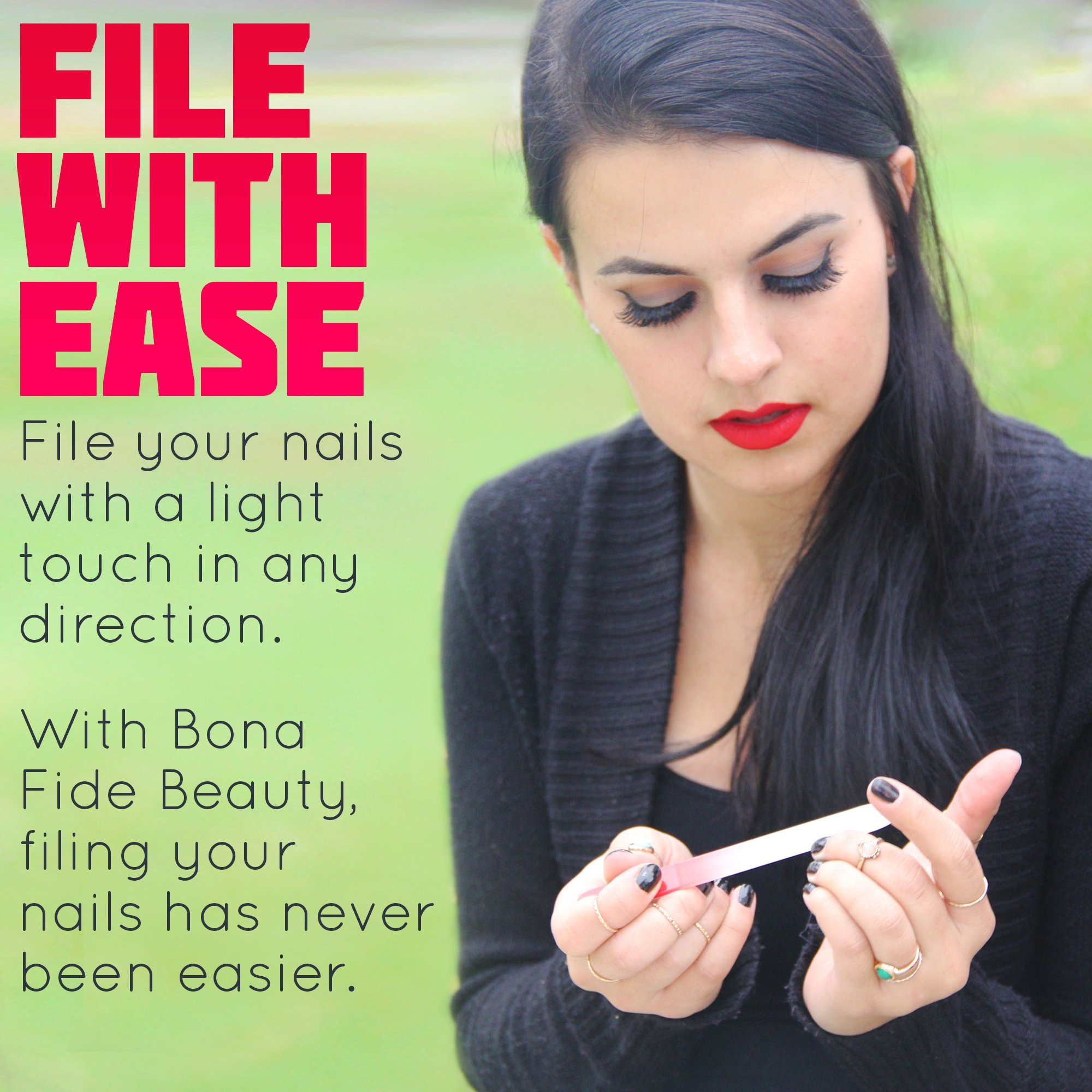 Glass Nail File Manicure Set, Fingernail File Nail Care, Manicure Tools by Bona Fide Beauty (5-Piece Set) Made in The Czech Republic by Bona Fide Beauty (Image #6)