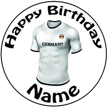 """Personalizado Alemania Camiseta de fútbol decoración para tarta para – una precortado redondo 8 """""""