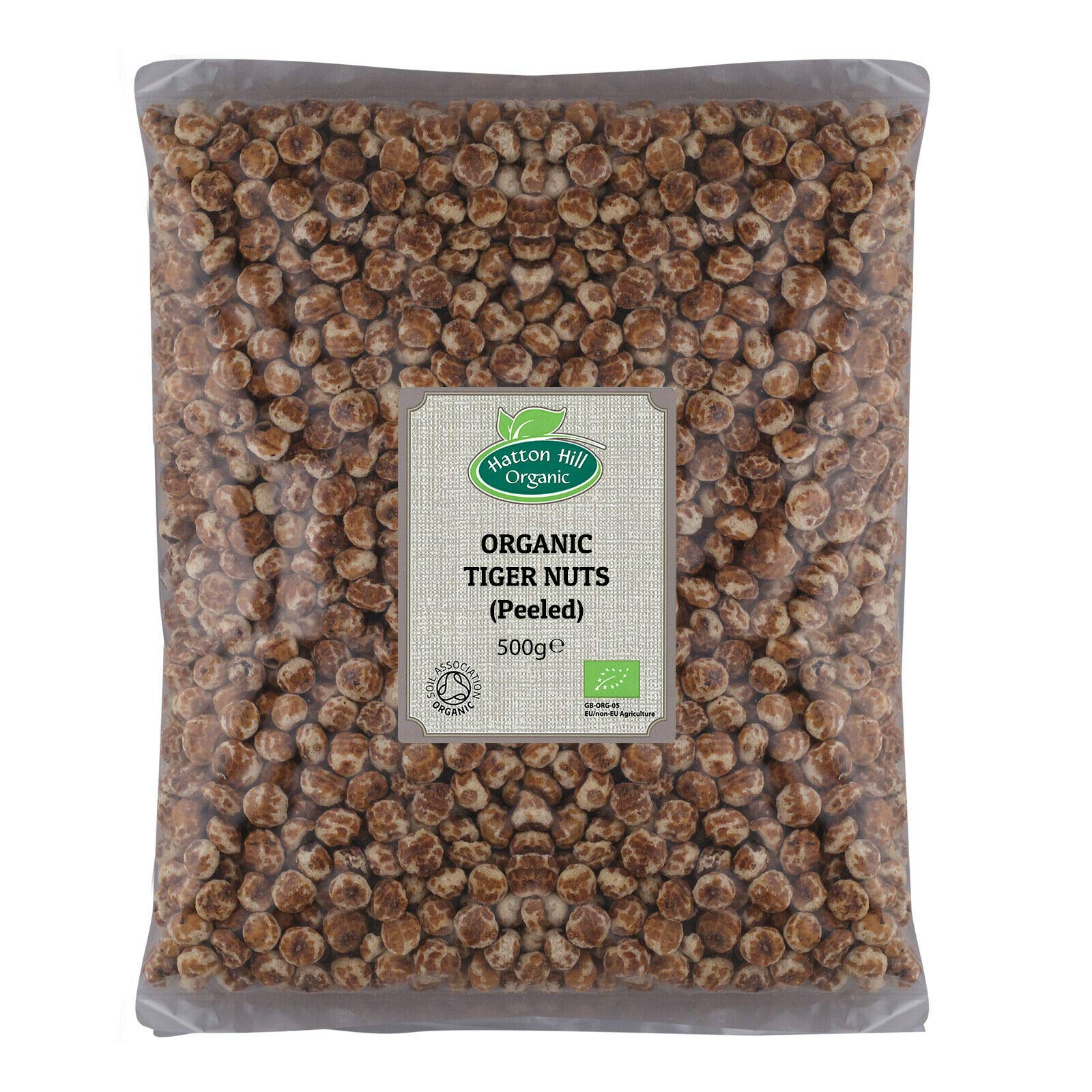 Organic Tiger Nuts (Peeled) 500g by Hatton Hill Organic - Free UK Delivery
