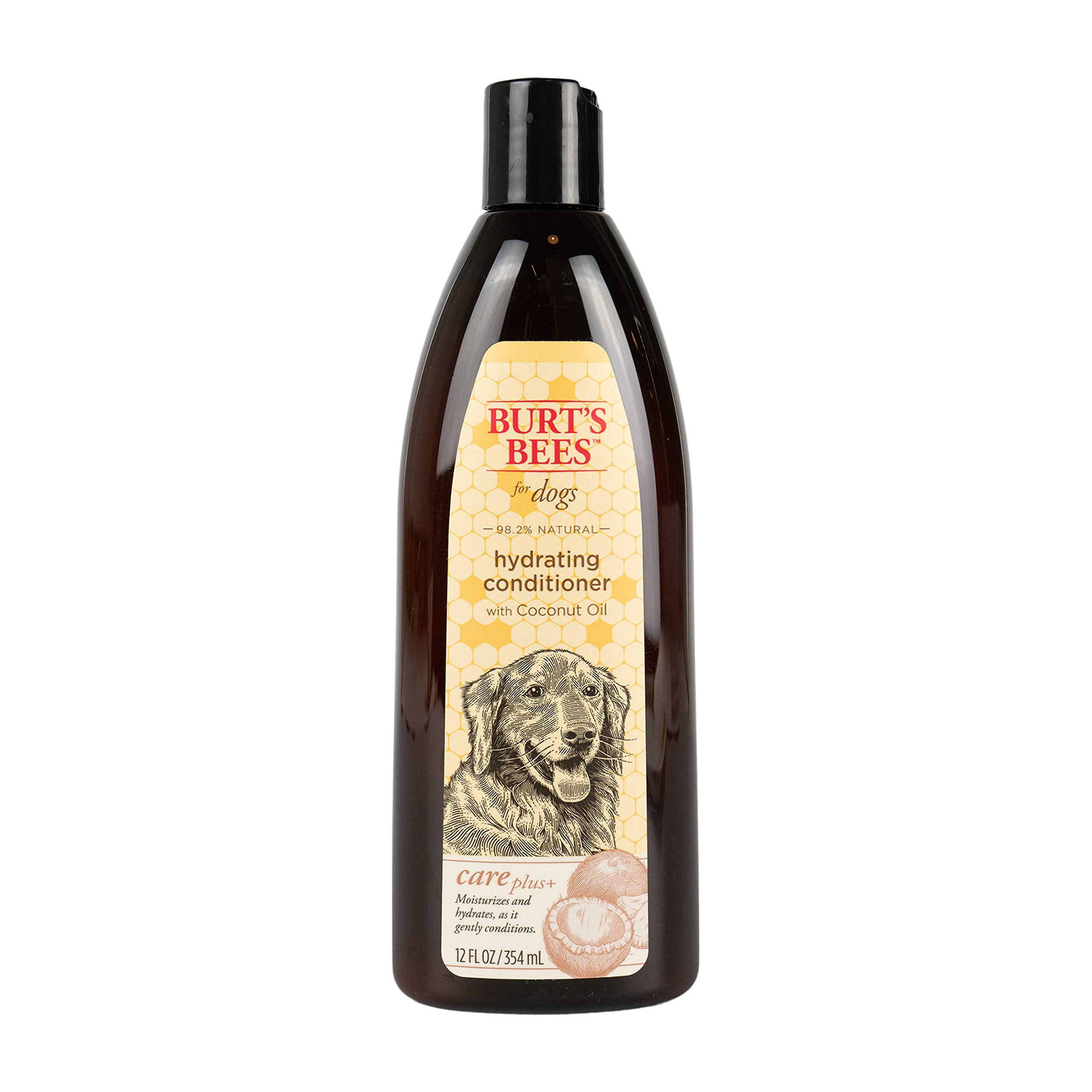 Burt's Bees For Dogs Care Plus Natural Hydrating Conditioner With Coconut Oil | Dog Conditioner, 12 Ounces