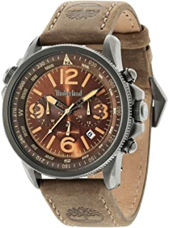 Timberland Campton Mens Analog Quartz Watch with Leather Bracelet 15129JSU-12