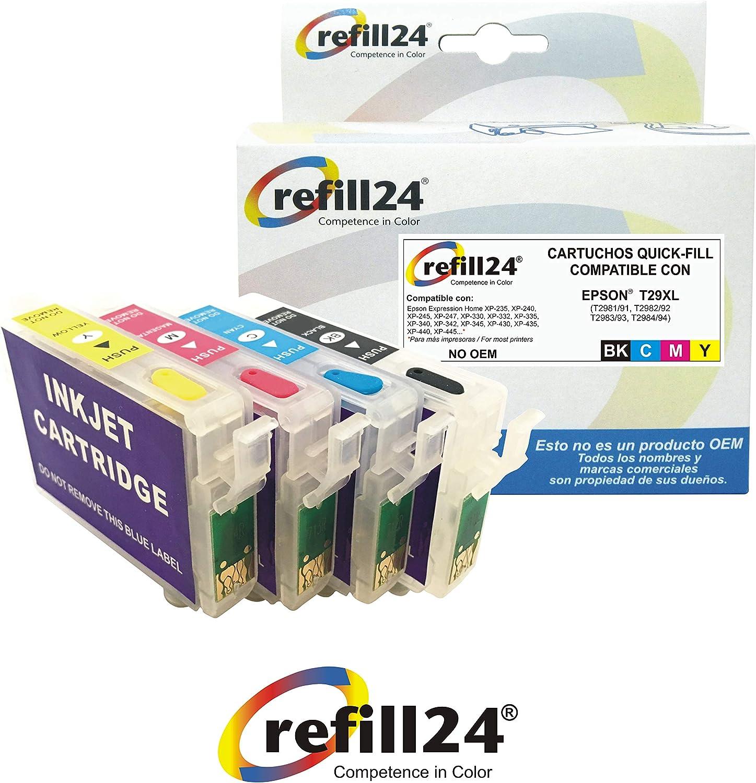 Cartuchos Recargables Compatible para Epson Serie 29 / 29XL Auto ...