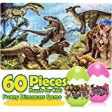 Snoky Toys for 3-12 Years Boys Girls Dinosaur Puzzles for Kids Ages 4-8 Jigsaw Wooden Puzzle for Kids Ages 3-5 Fun…