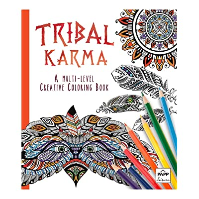 Tribal Karma ~ A Multi-Level Creative Coloring Book …: Toys & Games