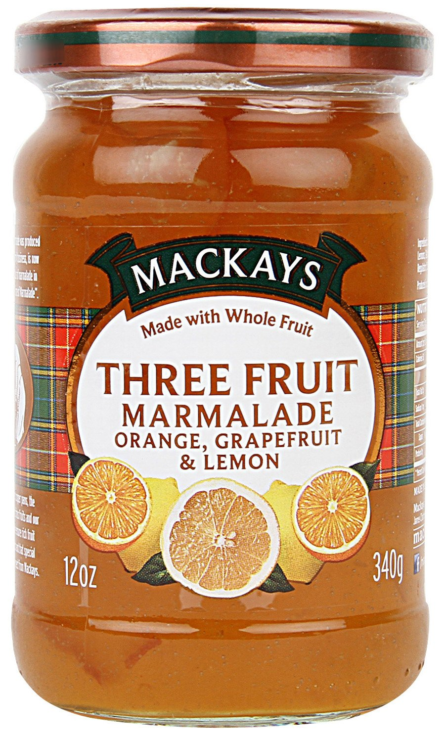 McKay's Marmalade, Three Fruit, 12-Ounce (Pack of 6)