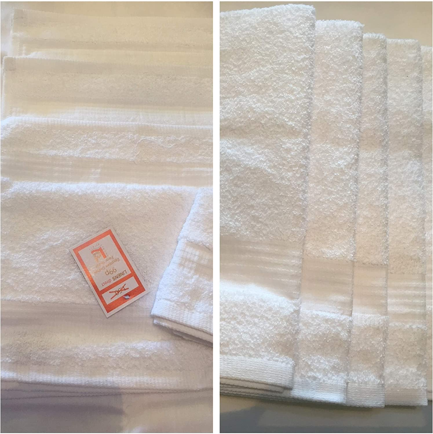 Bedding Heaven/® Egyptian Cotton 4 x GUEST TOWELS /& 2 x FACE CLOTHS 400gsm by Linens Direct White