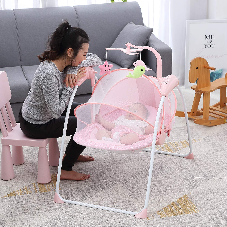 Kinbor Baby Comfort Portable Swing Infant Bouncers Balance Toddler Rocker Baby Cradle Lounge Chair Newborn Comfort Chair Automatic Shaker