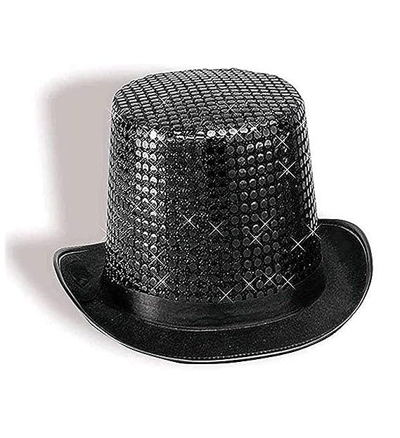 Amazon.com  Forum Novelties Black Sequin Top Hat  Toys   Games b5890c882e0