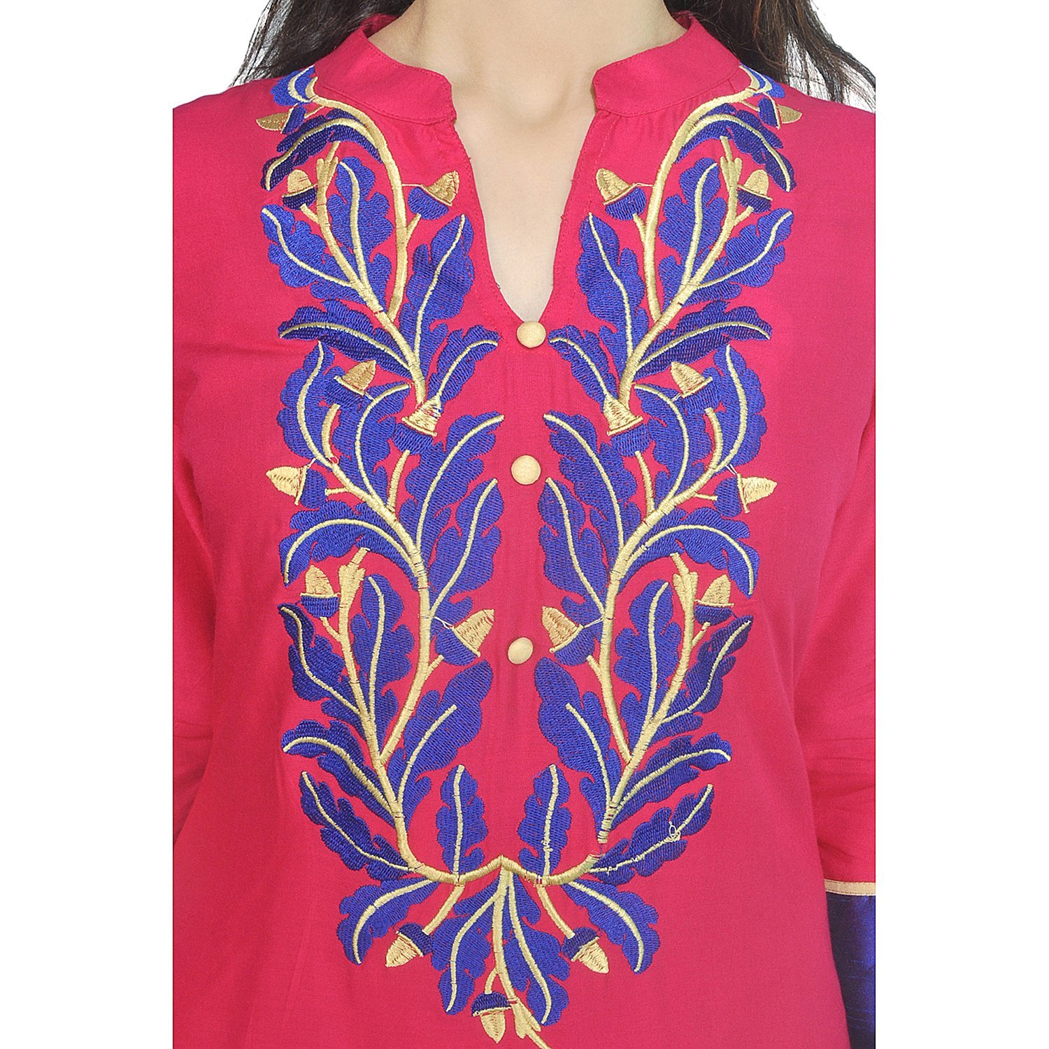 Chi Chi Chichi Women 3/4 Sleeve Tunic Top Embroidered Kurti Blouse by CHI (Image #4)