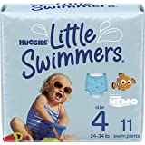 Huggies Little Swimmers Disposable Swim Diapers, Swimpants, Size 4 Medium (24-34 lb.), 11 Ct. (Packaging May Vary)