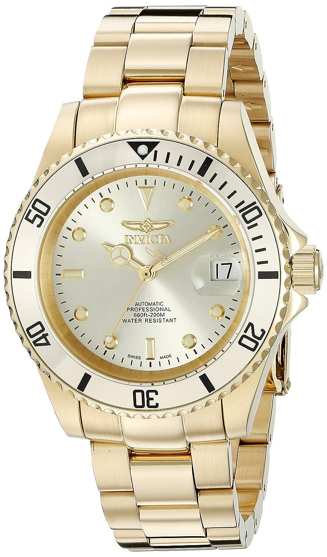 c0b84e54d Amazon.com: Invicta Men's 18508 Pro Diver Analog Display Swiss Automatic  Gold Watch: Invicta: Watches