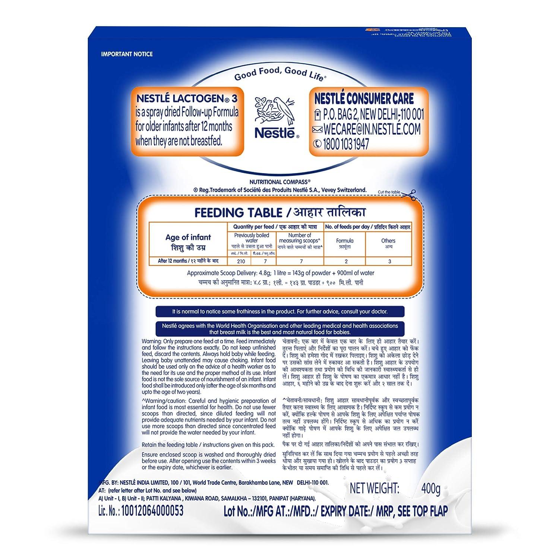LACTOGEN 3 Follow-Up Infant Formula Powder