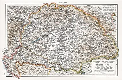 Amazon.com: Historic Map | Hungary, 1900 World Atlas | Antique ...