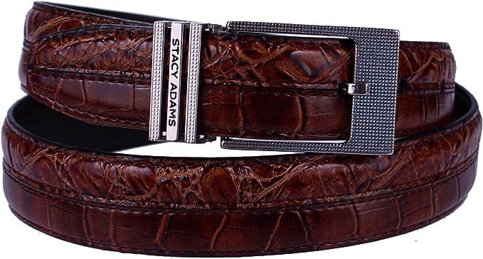 Stacy Adams Men/'s Cognac Croco Embossed Genuine Leather Belt Sz 32