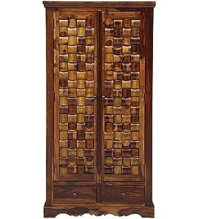 Adlakha Furniture Teak Wood Espresso Almirah Wardrobe For