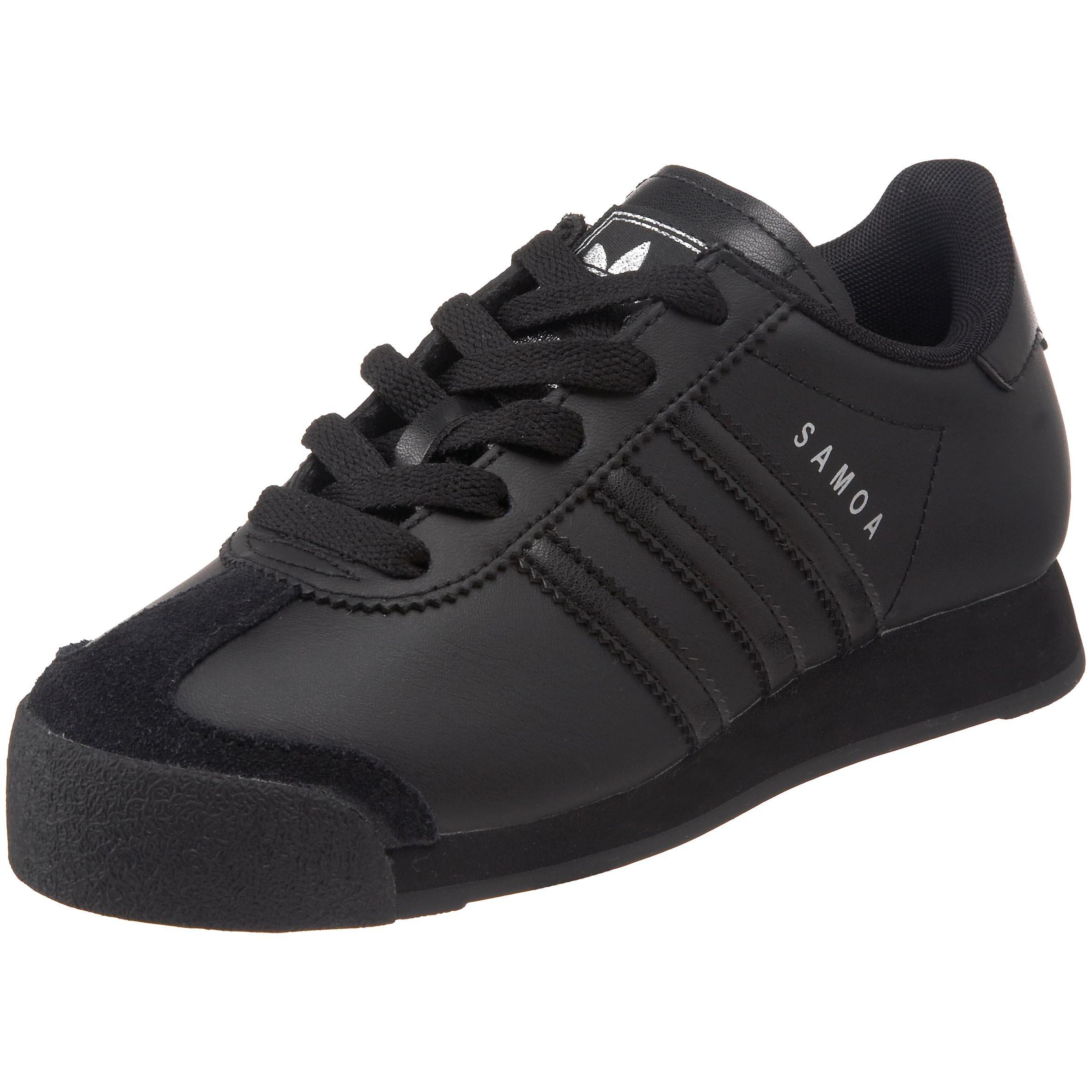 promo code 9bb85 8f752 Galleon - Adidas Originals Samoa Sneaker (Little Kid Big  Kid),Black Black Metallic Silver,5 M US Big Kid