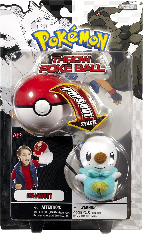 Pokemon Throw Poke Ball B&W Series #1 Oshawott (Water Type Starter with Poke Ball)
