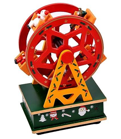 Navidad decoración Rueda de la Fortuna Reloj de madera con parte para Navidad 20 x 13