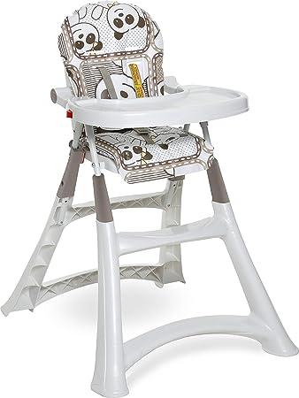 Galzerano Cadeira de Refeição Alta Premium, Panda, Até 15 kg