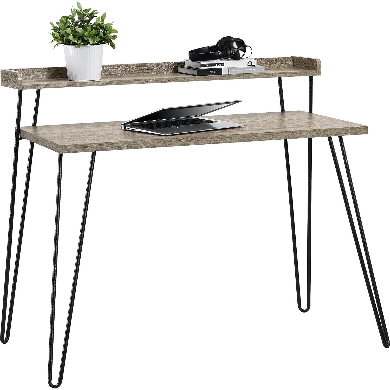 亚马逊的选择!时尚极简风格的橡木书桌