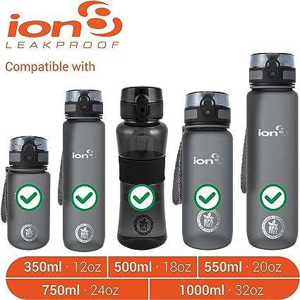 Ion8/a Prueba de Fugas Botella de Agua de Repuesto Sellos 3/Juegos