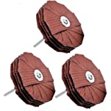 LINE10 Tools 4-inch Molding Flap Sanding Wheel Kit for Drill Press, Pack of 3, 80, 120, 240 Grit