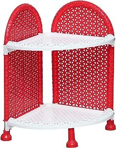 AGFA Bathroom Corner 2 Shelves - Red White