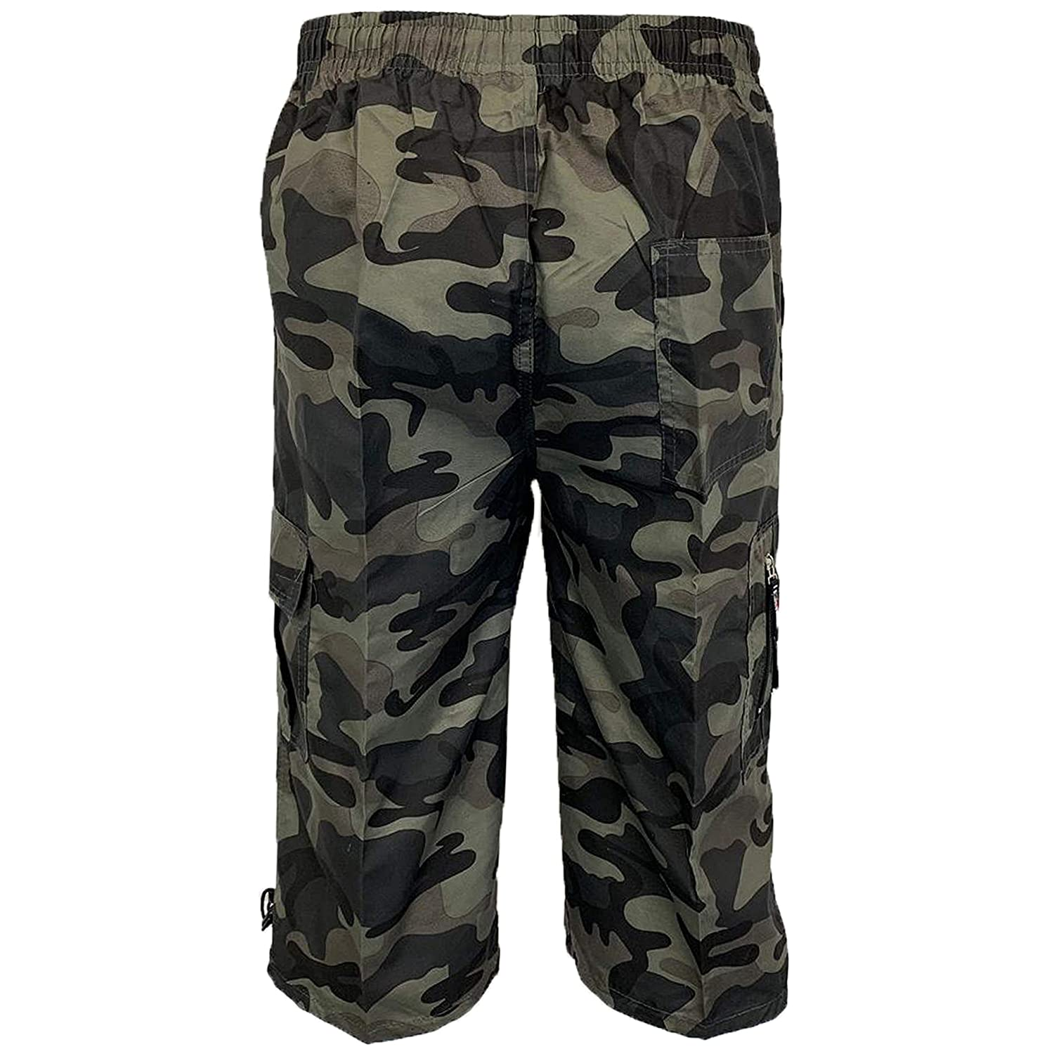 b9d6c1855d Mens Camouflage Combat Cargo Shorts 3/4 Length Army Military Sports Summer  New: Amazon.co.uk: Clothing
