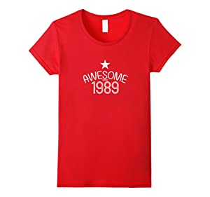Women's 1989 Birthday Gift Vintage Made In Born Aged Origi XL Red