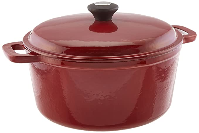 Amazon.com: The Mexican Kitchen by Rick Bayless 6 quart Round Dutch Oven with Lid, Medium, Red: Kitchen & Dining