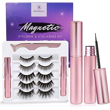 Amazon.com : Arishine Magnetic Eyeliner and Lashes Kit, Magnetic ...