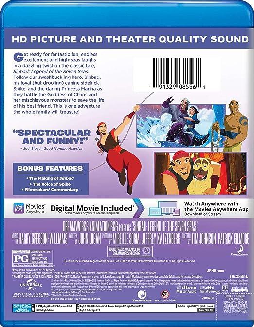 Amazon com: Sinbad: Legend of the Seven Seas [Blu-ray]: Brad