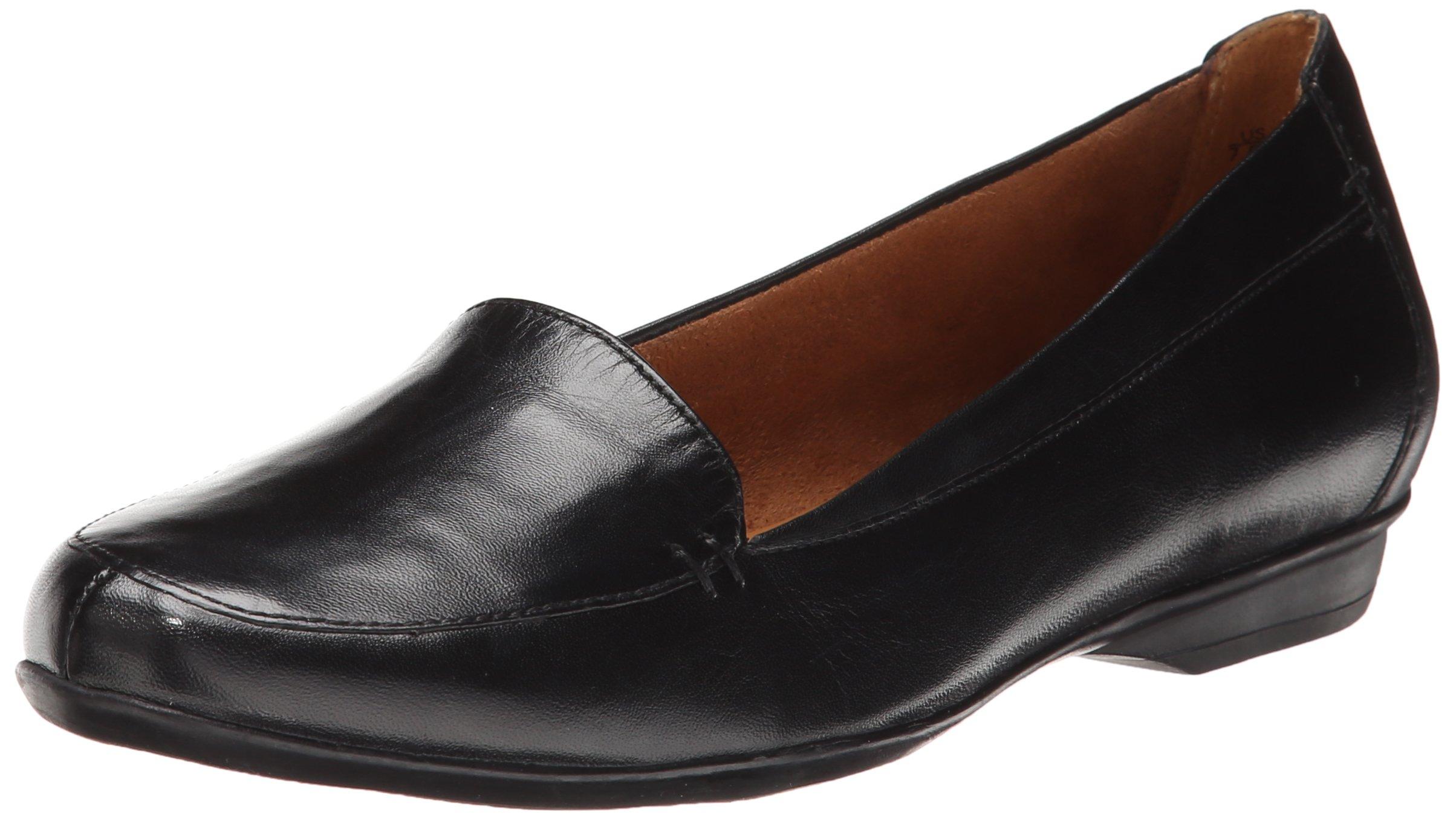 Naturalizer Women's Saban Slip-On Loafer, Black, 7.5 M US