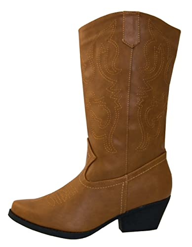 be03611d2086 Shoes 18 Womens Faux Leather Western Cowboy Boots W Traditional Embroidery ( 6