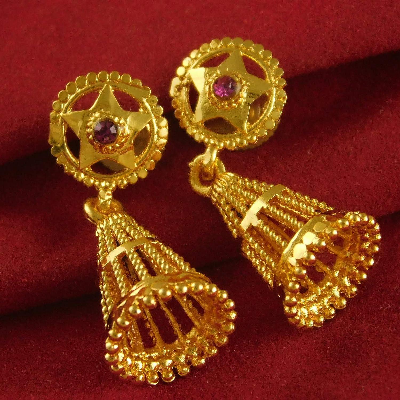 ShoppingHUB Get Closer 18K Goldplated CZ Stone Earrings Traditional Drop//Dangle Wedding Casual Jewelry