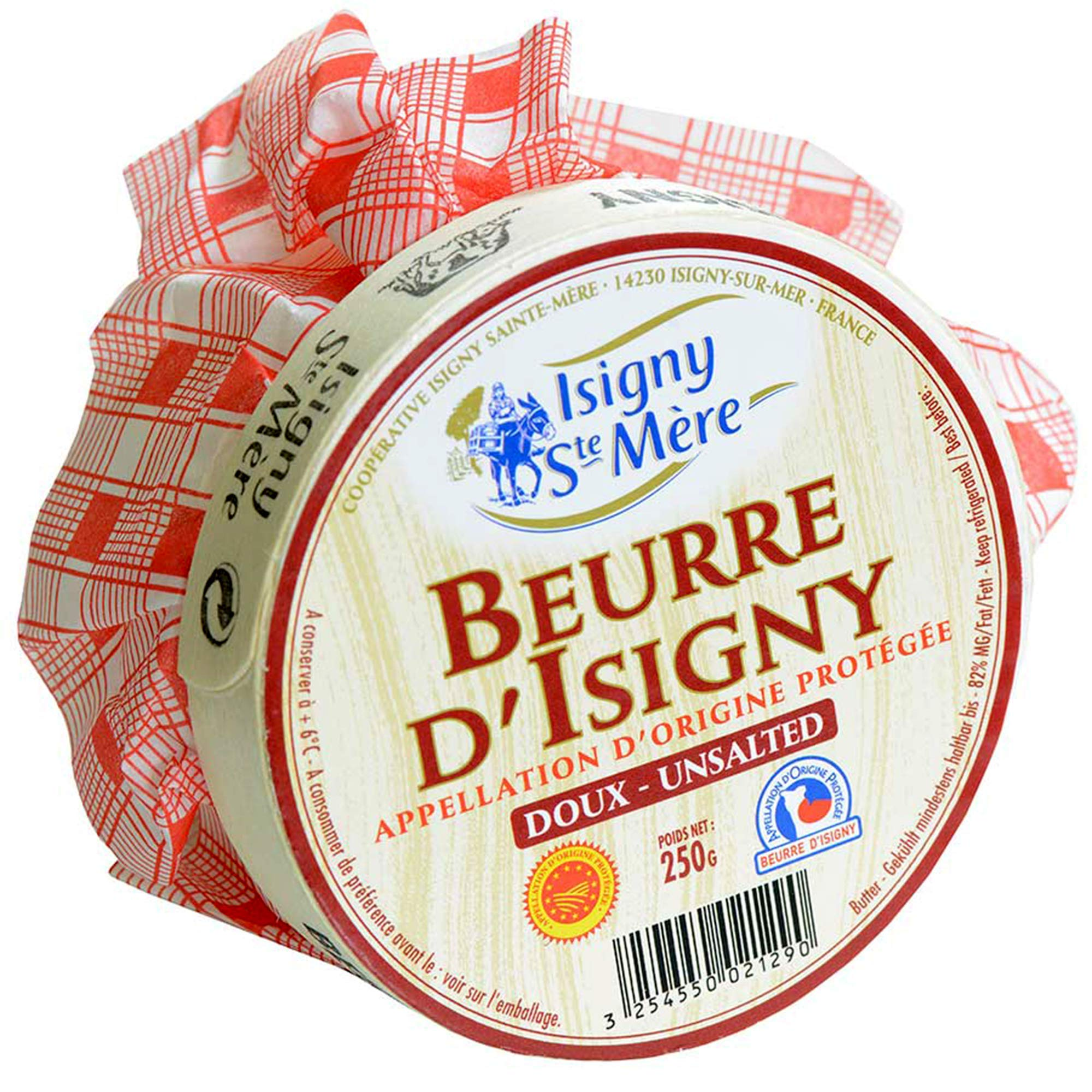 French Normandy Butter, Unsalted - 8.8 oz by Isigny (Image #1)