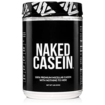 Naked Casein - 1LB 100% Micellar Casein Protein from US Farms - Bulk, GMO-Free, Gluten Free, Soy Free, Preservative Free - Stimulate Muscle Growth - Enhance Recovery - 15 Servings