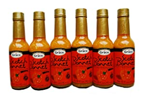 Grace Scotch Bonnet Hot Pepper Sauce 4.8oz - (6 Pack)