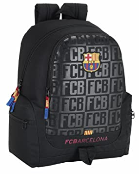 Safta Mochila juvenil F.C.Barcelona Black Oficial 320x170x430mm: Amazon.es: Equipaje