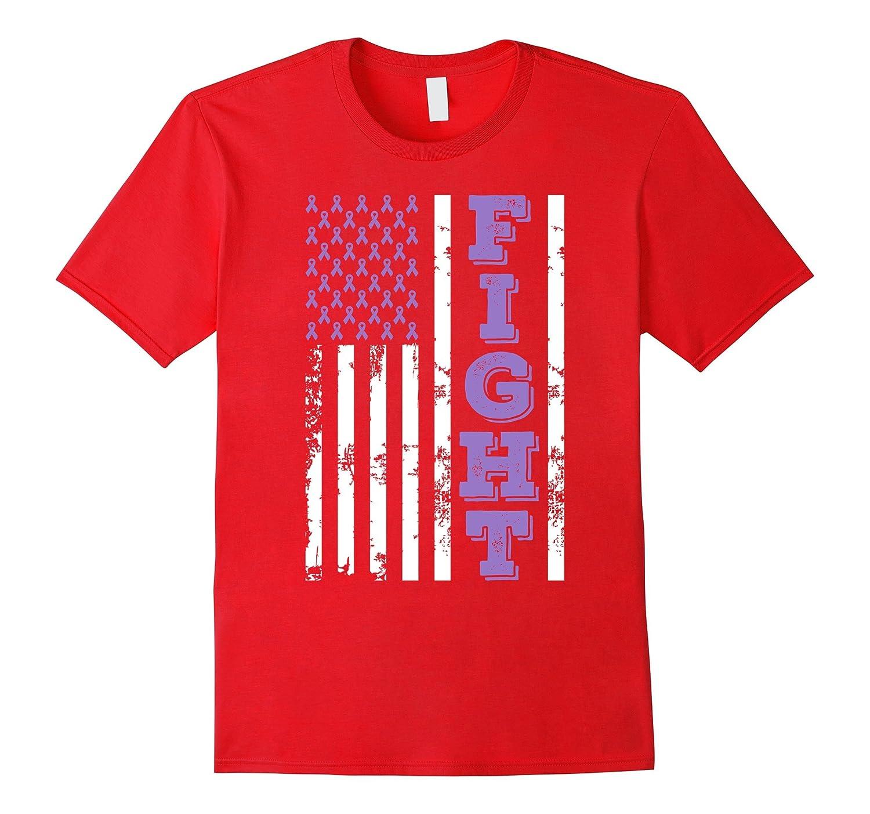 American Flag Fight Testicular Cancer Awareness T Shirt-CL