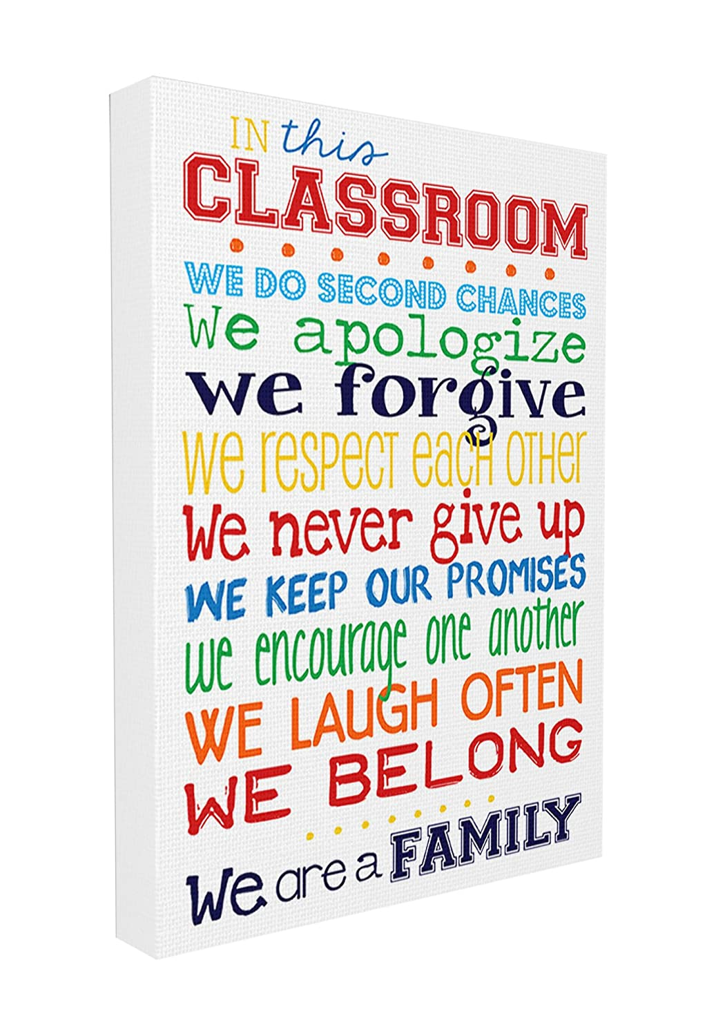 Stupell Home Décor In This Classroom Rules Typography Canvas Art, 16 ...