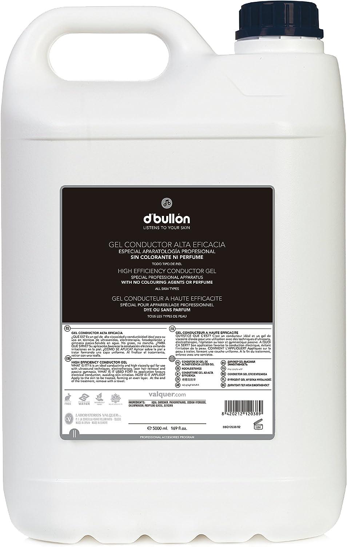 D'Bullón Gel Conductor para uso profesional (ultrasonidos, electroterapia,etc). Alta eficacia. Gel de contacto - 5000 ml